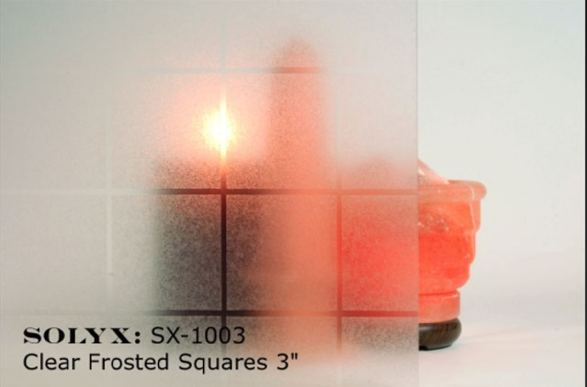 Clear Frosted Squares
