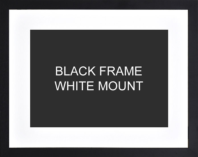 Black frame with white mount