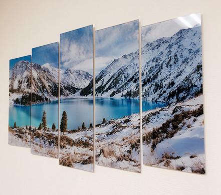 Модульная картина на стекле на стену