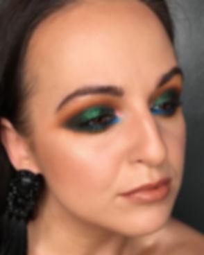 🐸🐛🦎Green 🦖🐍🦕 #eyeshadow #makijaż #