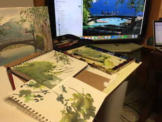 New Paintings from Plein Air Studies