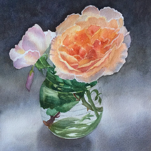 Roses in a Water Glass