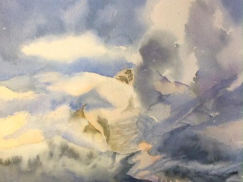 Mt. Blanc in Clouds