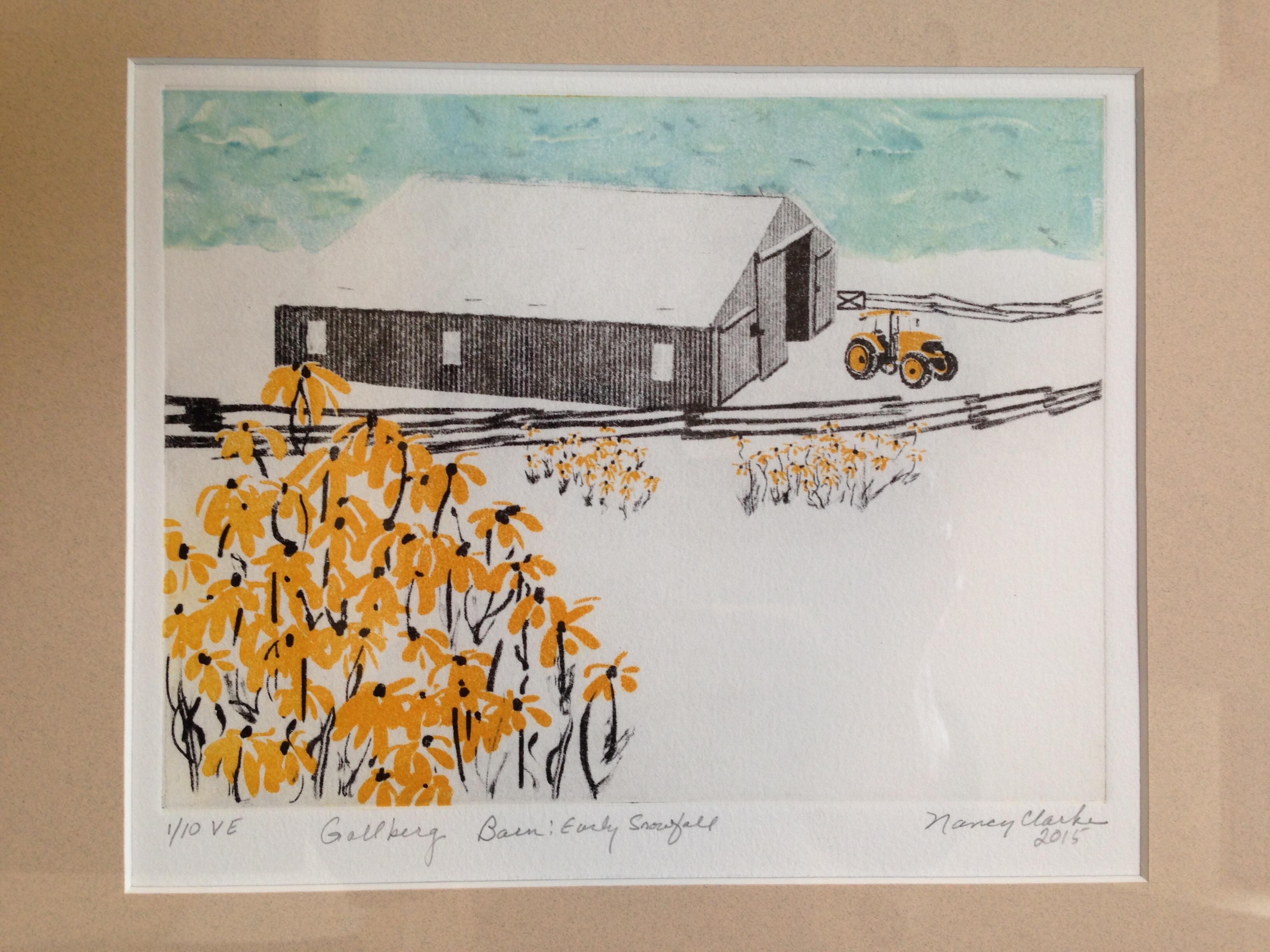 Gollberg Barn: Early Snowfall
