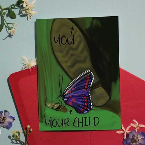 Gender Butterfly Greeting Card