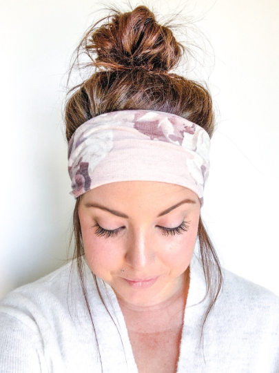 Blush Cream Floral Headband