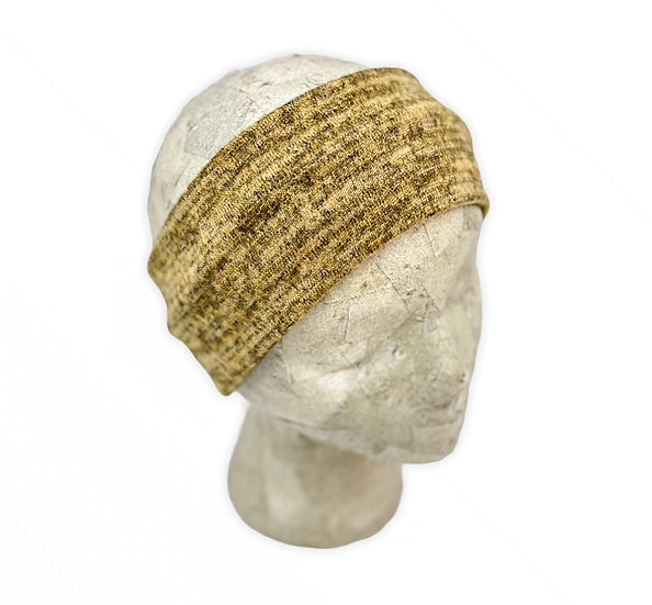 Gold Heathered Sweater Ear Warmer