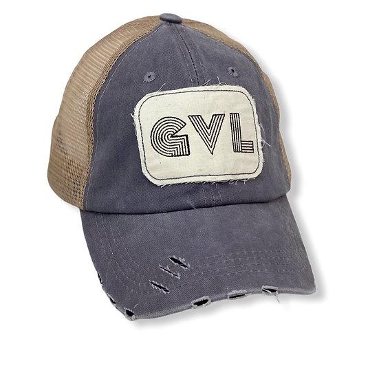 Greeneville Grey And Tan Trucker Hat