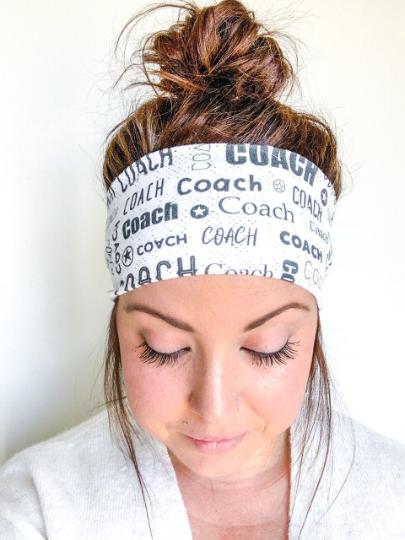 White and Black Coach Headband