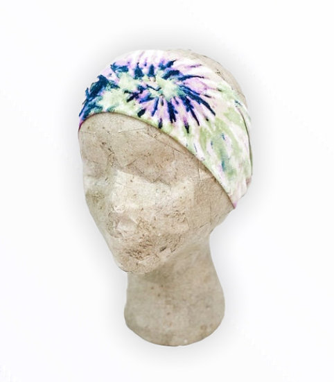 Green and Purple Tie Dye Headband