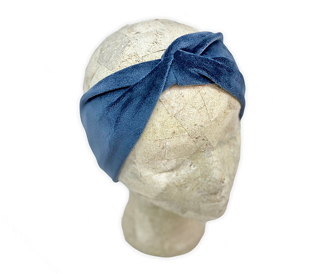 Solid Slate Blue Ear Warmer