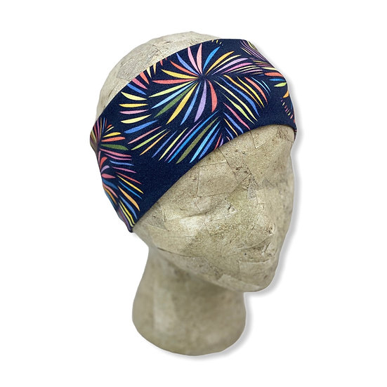 Black Rainbow Yarn Skein Headband