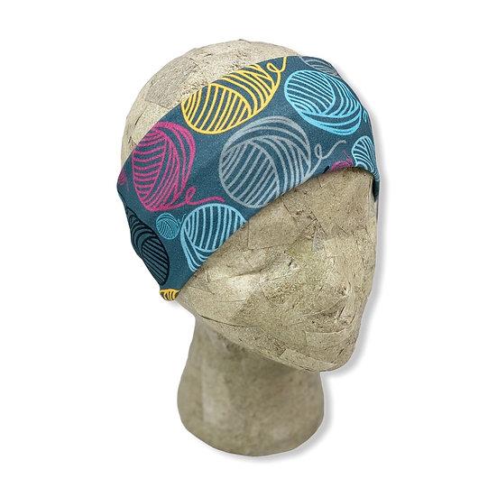 Dark Teal Yarn Balls Headband