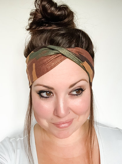 Glitter Shimmer Camo Headband