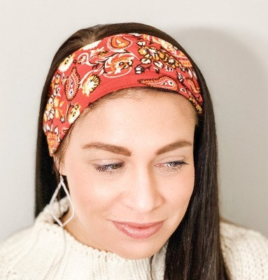 Rust Paisley Headband