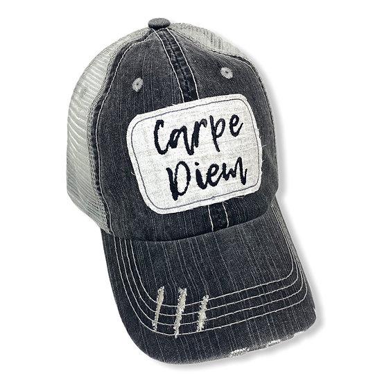 Carpe Diem Messy Bun Hat