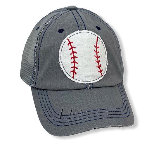 Glitter Baseball Trucker Hat