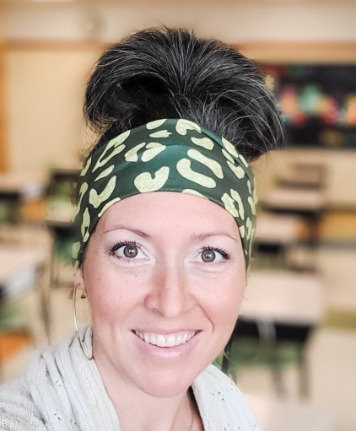 Green and Gold Animal Print Headband