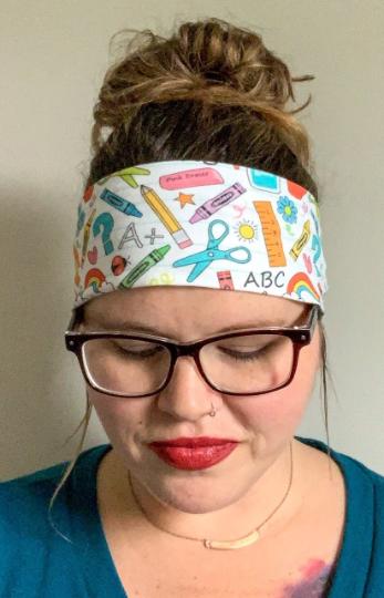 Teacher School Supplies Headband