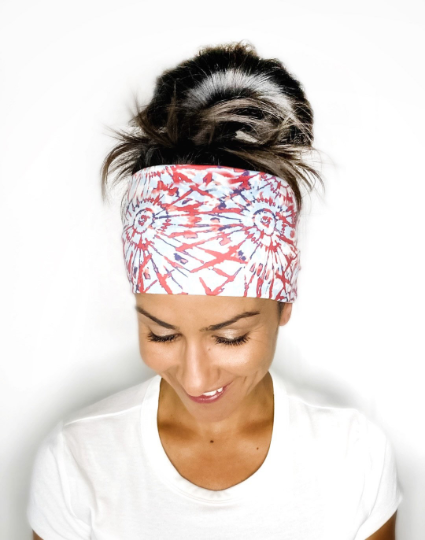 Patriotic Tie Dye Headband