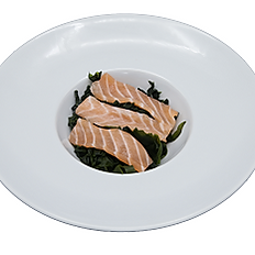 812 - Insalata di alghe con salmone