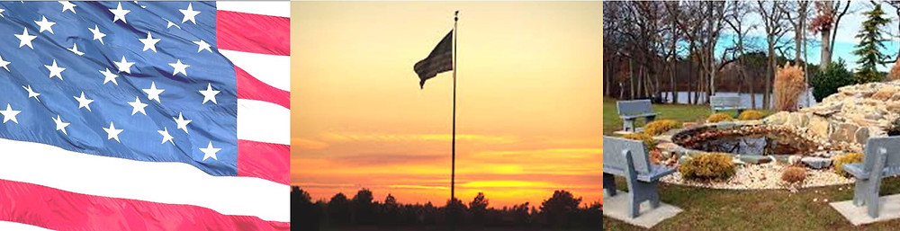 The Sunset Flag Ceremony and the Veterans Memorial Garden in Jackson