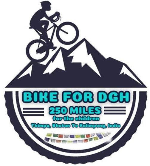Bike for DGH logo with white bkgd, flag.