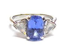 Bespoke Blue Sapphire Ring