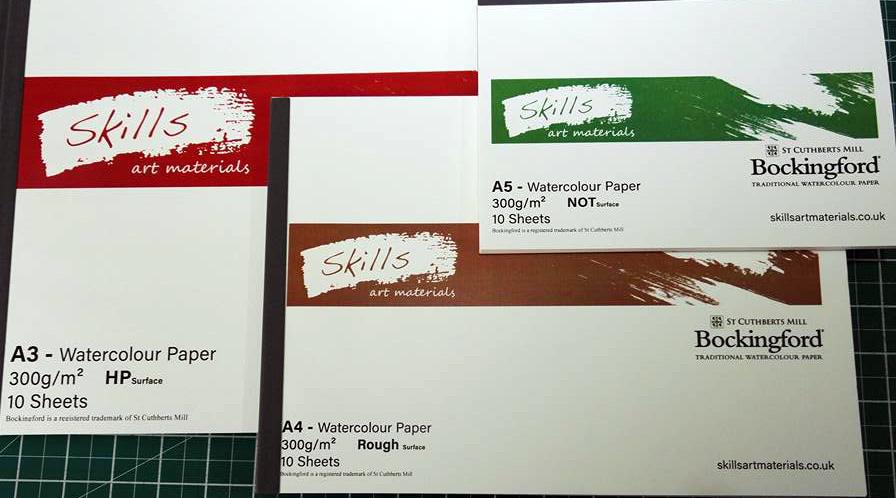 Skills Bockingford Watercolour Paper