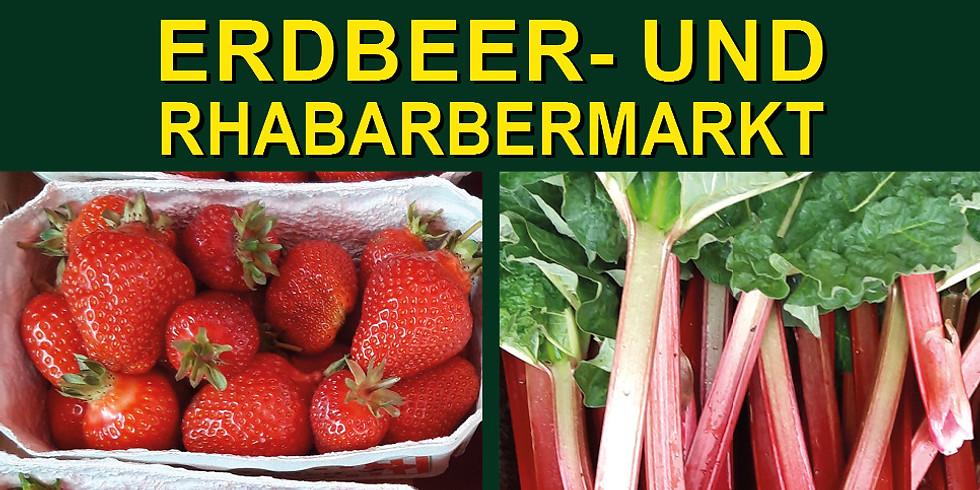 Erdbeer- und Rhabarbermarkt