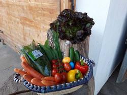 Gemüse und Freilandeier