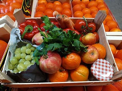 Obst- und Gemüselieferung