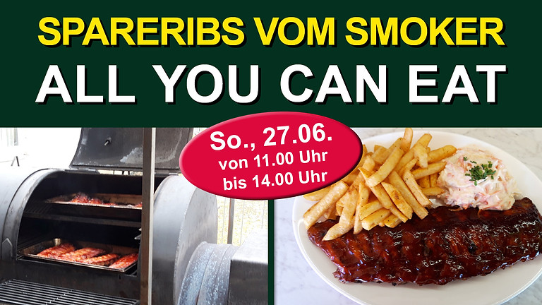 Spareribs -all you can eat- vom Smoker