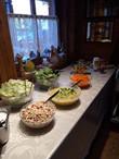 Salatbuffet im Saloon