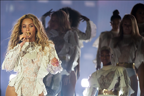 Beyonce, Singer, Stage, Concert, Formation, Grammy, White, Dancers, Costumes, Microphone, Concert