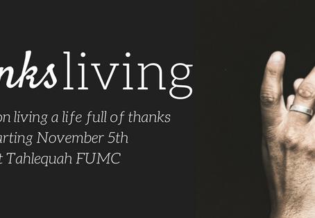 November 7th  Thanksliving