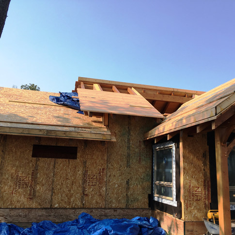 SIPs roof panels going over tongue and grove wooden ceiling
