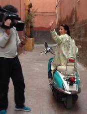 Adriana Bittencourt filmando para materia no Globo Reporter com Gloria Maria.