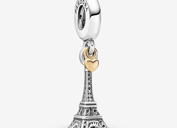 Charm Pendant Tour Eiffel Paris et Cœur