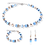 Thumbnail: Boucles d'oreille GeoCUBE® bleu