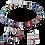 Thumbnail: Bracelet GeoCUBE® multicolore art nouveau