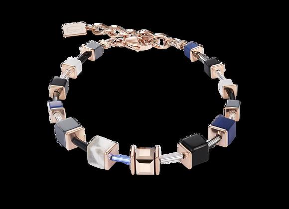 Bracelet GeoCUBE® bleu-or rose