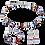 Thumbnail: Boucles d'oreille GeoCUBE® Cristaux Swarovski® & pierres précieuses bleu-rouge