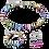 Thumbnail: Bracelet GeoCUBE® classique polaris & strass multicolore