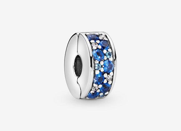 Charm Clip Pavé Bleu