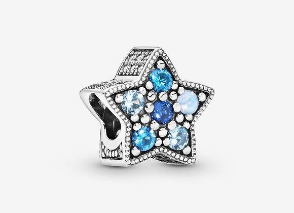 Charm Étoile Bleue Brillante