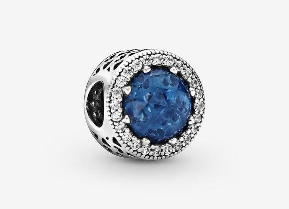 Charm scintillant bleu foncé