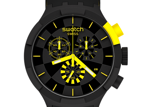 SWATCH BIG BOLD CHRONO CHECKPOINT YELLOW