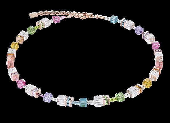 Collier GeoCUBE® multicolore-cristal