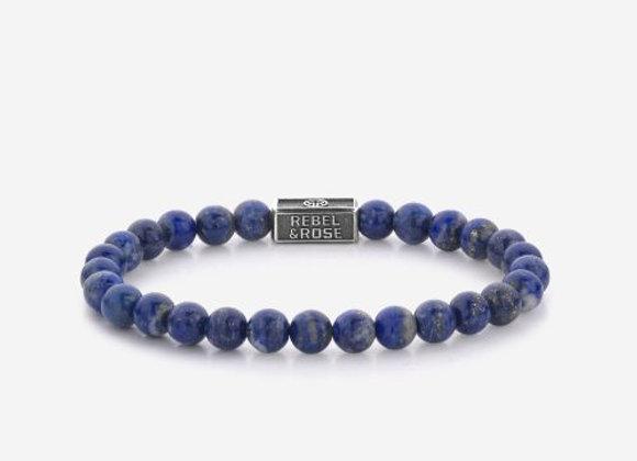 Rebel&Rose Silverbead - Lapis Lazuli 925 - 6mm